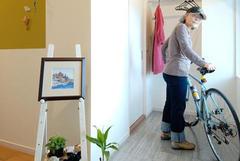 趣味の自転車も置ける玄関のユニバーサルスペース。