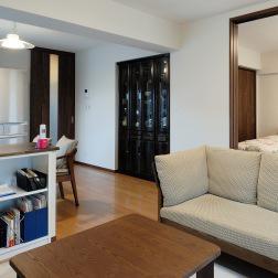 住み慣れたマンションをバリアフリー仕様で開放的な空間に全面リフォーム。